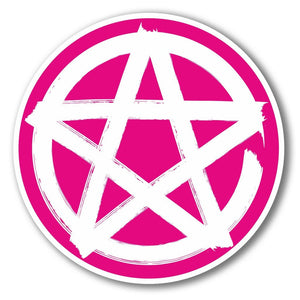 2 x Pentagram Symbol Vinyl Sticker #6282