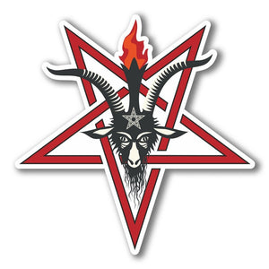 2 x Pentagram Symbol Vinyl Sticker #6283