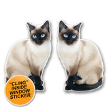 2 x Cat WINDOW CLING STICKER Car Van Campervan Glass #6301