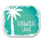 2 x Lanai Hawaii USA Flag Vinyl Sticker #6315