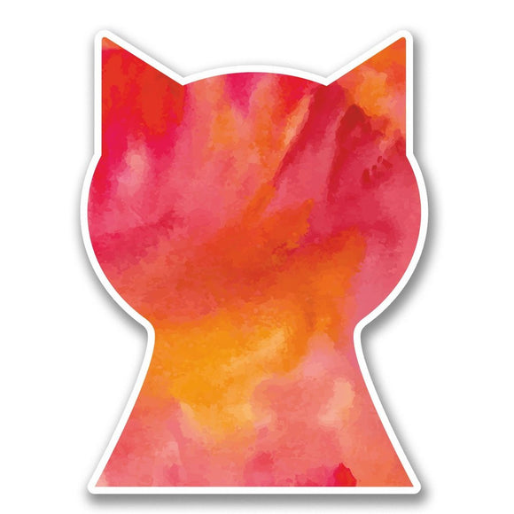 2 x Cat Head Vinyl Sticker #6322