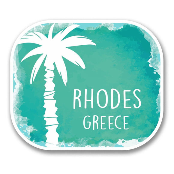 2 x Rhodes Greece Vinyl Sticker #6330
