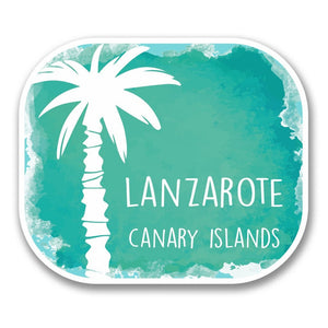 2 x Lanzarote Island Spain Vinyl Sticker #6343