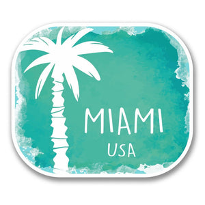 2 x Miami USA Vinyl Sticker #6347