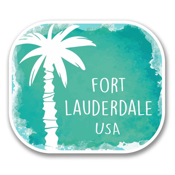 2 x Fort Lauderdale USA Vinyl Sticker #6349