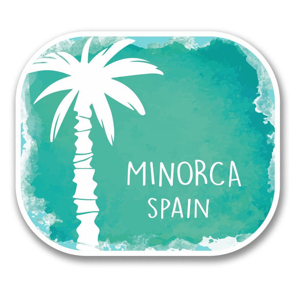 2 x Minorca Spain Vinyl Sticker #6351
