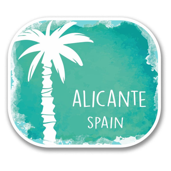 2 x Alicante Spain Vinyl Sticker #6352