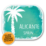 2 x Alicante Spain WINDOW CLING STICKER Car Van Campervan Glass #6352