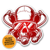 2 x Scuba Diver Skull WINDOW CLING STICKER Car Van Campervan Glass #6375
