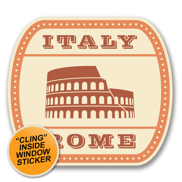 2 x Italy Rome WINDOW CLING STICKER Car Van Campervan Glass #6382