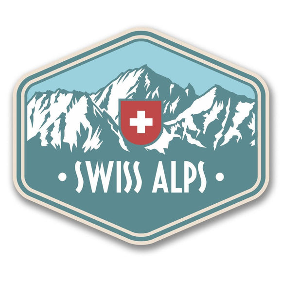 2 x Swiss Alps Switzerland Vinyl Sticker #6389