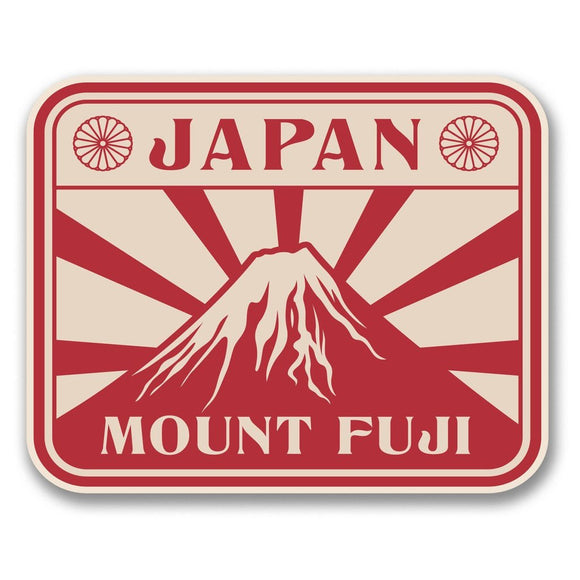 2 x Japan Mount Fuji Vinyl Sticker #6391