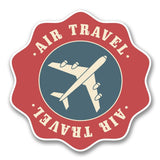 2 x Air Travel Vinyl Sticker #6392