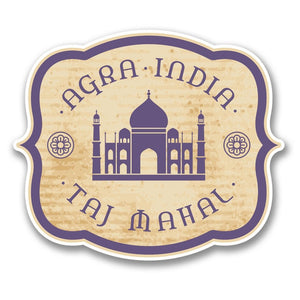 2 x Agra India Taj Mahal Vinyl Sticker #6394