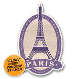 2 x Paris Eiffel Tower WINDOW CLING STICKER Car Van Campervan Glass #6396
