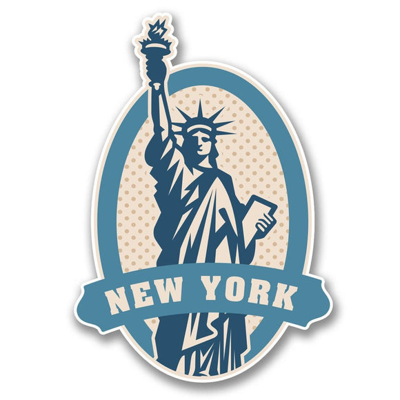2 x New York USA Statue of Liberty Vinyl Sticker #6397