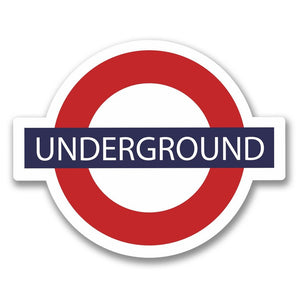 2 x London Underground Vinyl Sticker #6403