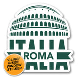 2 x Roma Italy WINDOW CLING STICKER Car Van Campervan Glass #6405
