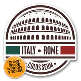 2 x Italy Rome Colosseum WINDOW CLING STICKER Car Van Campervan Glass #6408