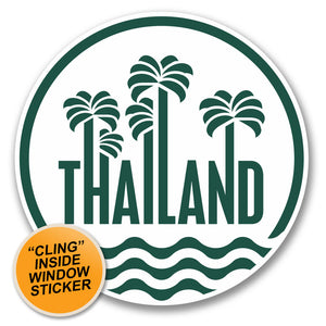 2 x Thailand WINDOW CLING STICKER Car Van Campervan Glass #6409