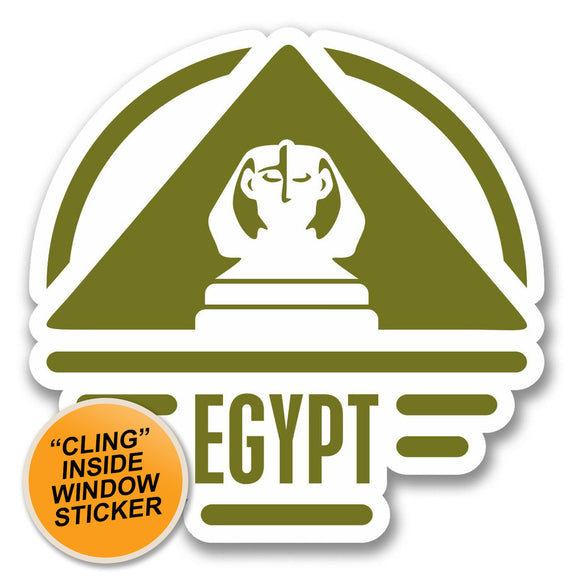 2 x Egypt WINDOW CLING STICKER Car Van Campervan Glass #6412