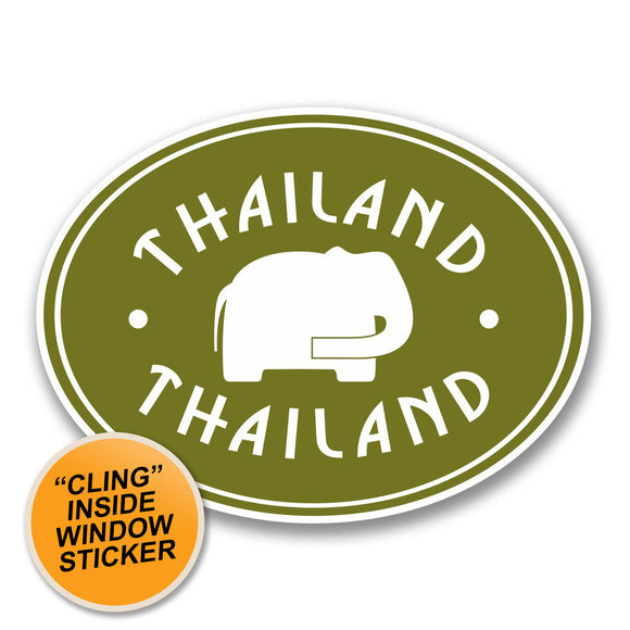 2 x Thailand WINDOW CLING STICKER Car Van Campervan Glass #6413