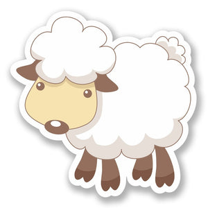 2 x Sheep Lamb Vinyl Sticker #6421