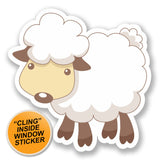 2 x Sheep Lamb WINDOW CLING STICKER Car Van Campervan Glass #6421