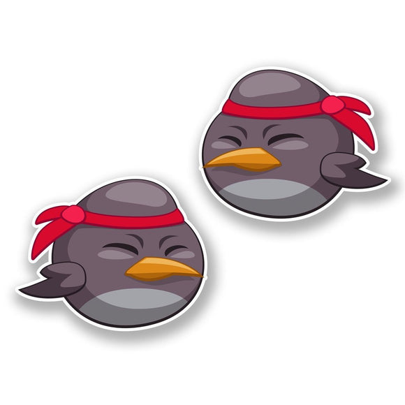 2 x Japanese Cartoon Bird Vinyl Sticker #6428