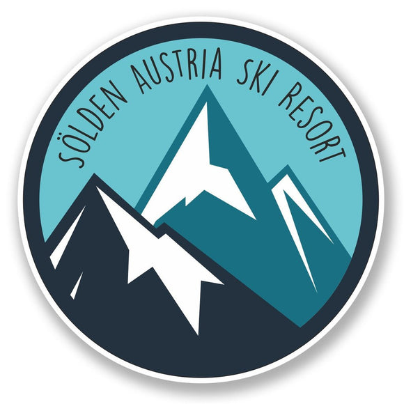 2 x Solden Austria Ski Snowboard Resort Vinyl Sticker #6432