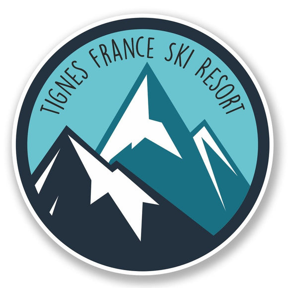 2 x Tignes France Ski Snowboard Resort Vinyl Sticker #6435