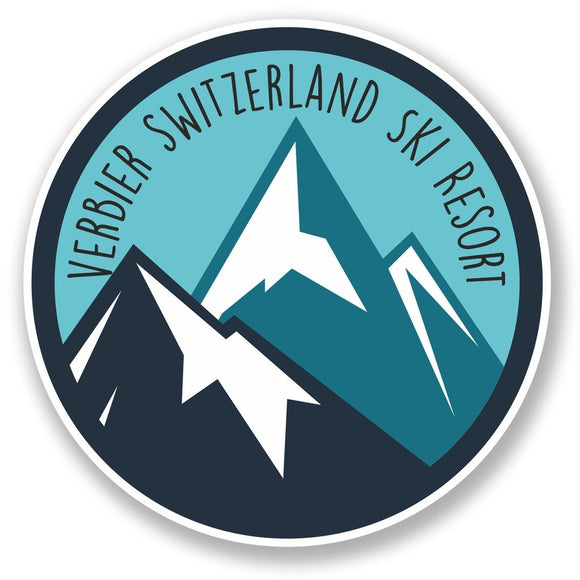 2 x Verbier Switzerland Ski Snowboard Resort Vinyl Sticker #6436