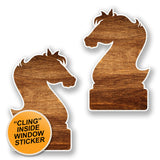 2 x Wooden Knight WINDOW CLING STICKER Car Van Campervan Glass #6439