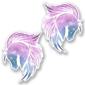 2 x Magical Pink Horse Vinyl Sticker #6451
