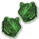 2 x Tiger Lion Cat Vinyl Sticker #6455