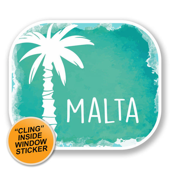 2 x Malta WINDOW CLING STICKER Car Van Campervan Glass #6460