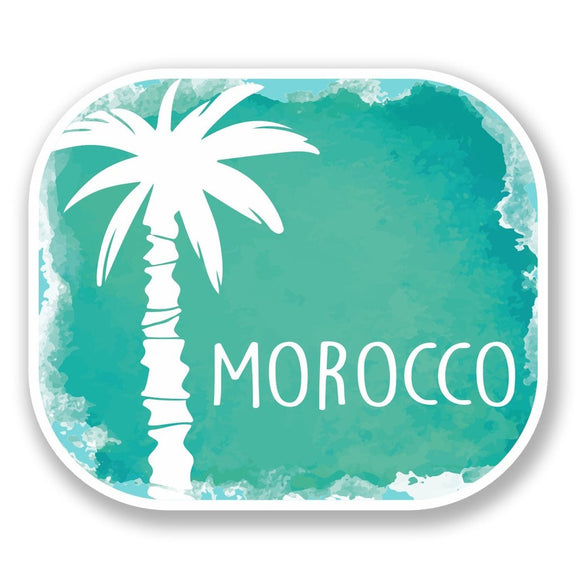 2 x Morocco Sticker Luggage Travel Vinyl Sticker iPad Sign Fun #6488