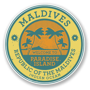 2 x Maldives Vinyl Sticker #6491