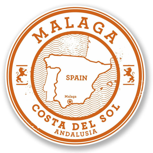 2 x Malaga Spain Vinyl Sticker #6492