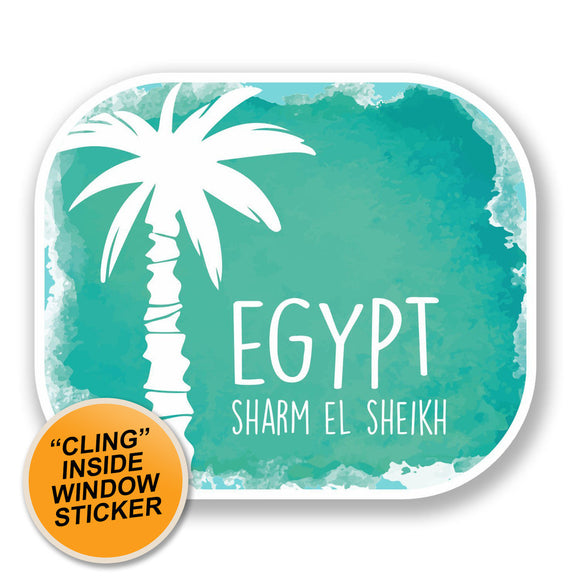 2 x Sharm El Sheikh Egypt WINDOW CLING STICKER Car Van Campervan Glass #6506
