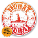 2 x UAE Dubai WINDOW CLING STICKER Car Van Campervan Glass #6516
