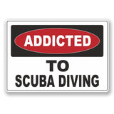 2 x Addicted to Scuba Diving Vinyl Sticker #6530