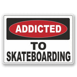 2 x Addicted to Skateboarding Vinyl Sticker #6549