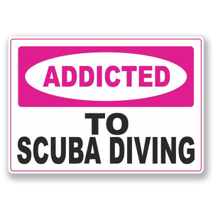 2 x Addicted to Scuba Diving Vinyl Sticker #6556