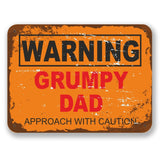 2 x Grumpy Dad Warning Vinyl Sticker #6562