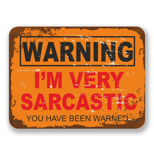 2 x Sarcastic Warning Vinyl Sticker #6565