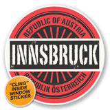 2 x Innsbruck Austria WINDOW CLING STICKER Car Van Campervan Glass #6574