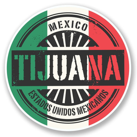 2 x Tijuana Mexico Vinyl Sticker #6575