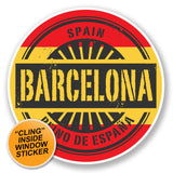 2 x Barcelona Catalunya Spain WINDOW CLING STICKER Car Van Campervan Glass #6576