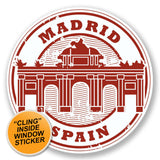 2 x Madrid Spain WINDOW CLING STICKER Car Van Campervan Glass #6579